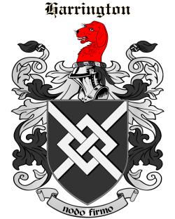 HARRINGTON family crest