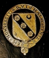 Arms within Order of Garter Stamp of George Carey Baron Hunsdon 15471603